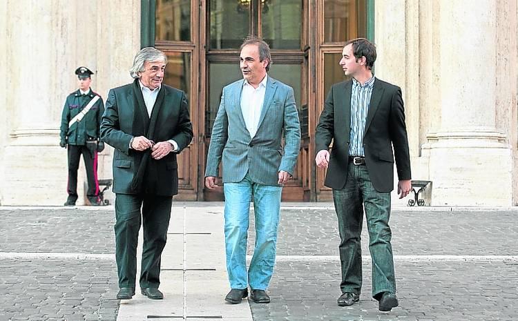 PARLAMENTARI MAIE da sinistra, nella foto: Claudio Zin, Ricardo Merlo, Mario Borghese