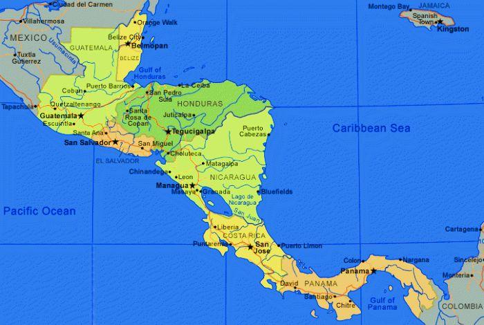 Cartina Geografica Centro America.Italiani All Estero Arriva In Costarica Il Piano Di