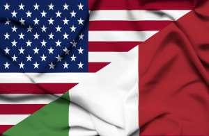 Bandiera Usa Italia