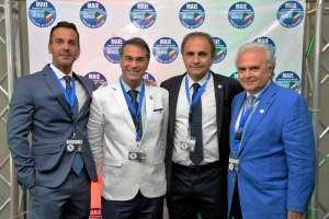 Da sinistra: Ricky Filosa, Salvo Mulè, Ricardo Merlo, Augusto Sorriso
