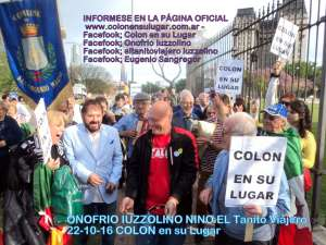 """Eugenio Sangregorio, presidente USEI, partecipa alla manifestazione """"Colon en su lugar"""", a Buenos Aires"""