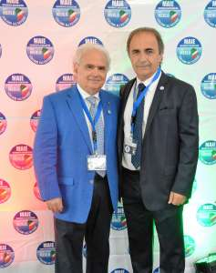 Augusto Sorriso e il presidente del MAIE, On. Ricardo Merlo