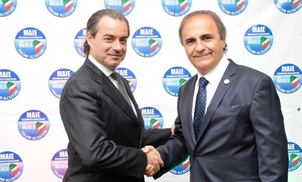 Mario Fera e il presidente del MAIE, On. Ricardo Merlo