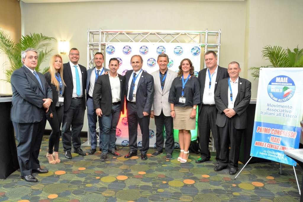 FOTO DI GRUPPO Un momento del primo Congresso MAIE Nord e Centro America, ottobre 2016 - Santo Domingo