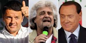 Berlusconi Renzi Grillo