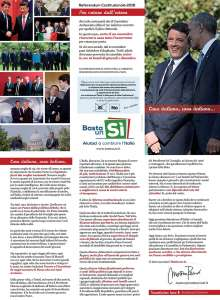 Referendum costituzionale, la lettera di Renzi agli italiani nel mondo