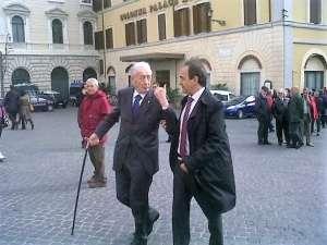 FOTO RICORDO Mirko Tremaglia insieme a Ricardo Merlo, presidente MAIE