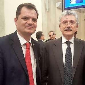 L'On. Fabio Porta insieme a Massimo D'Alema