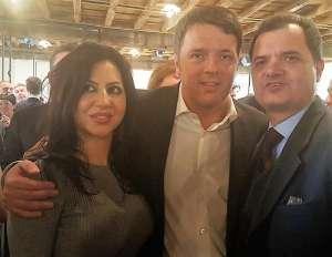 A destra nella foto l'On. Porta, insieme a Matteo Renzi e all'On. Francesca La Marca