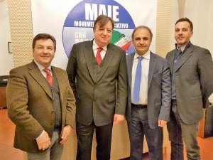 Negli uffici del MAIE a Roma presso la Camera dei Deputati