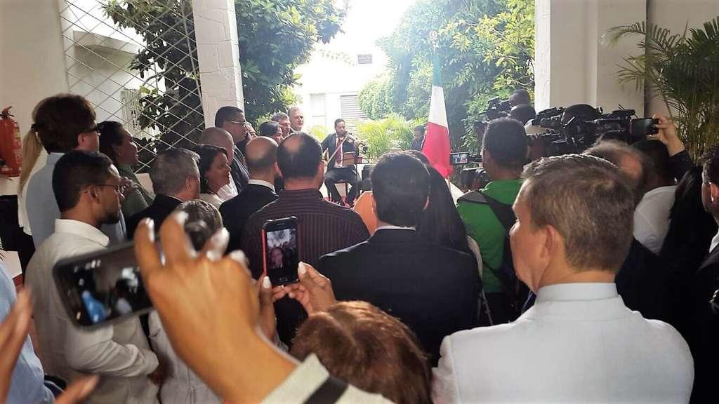 Un momento dell'evento organizzato in Ambasciata per la riapertura della sede diplomatica a Santo Domingo