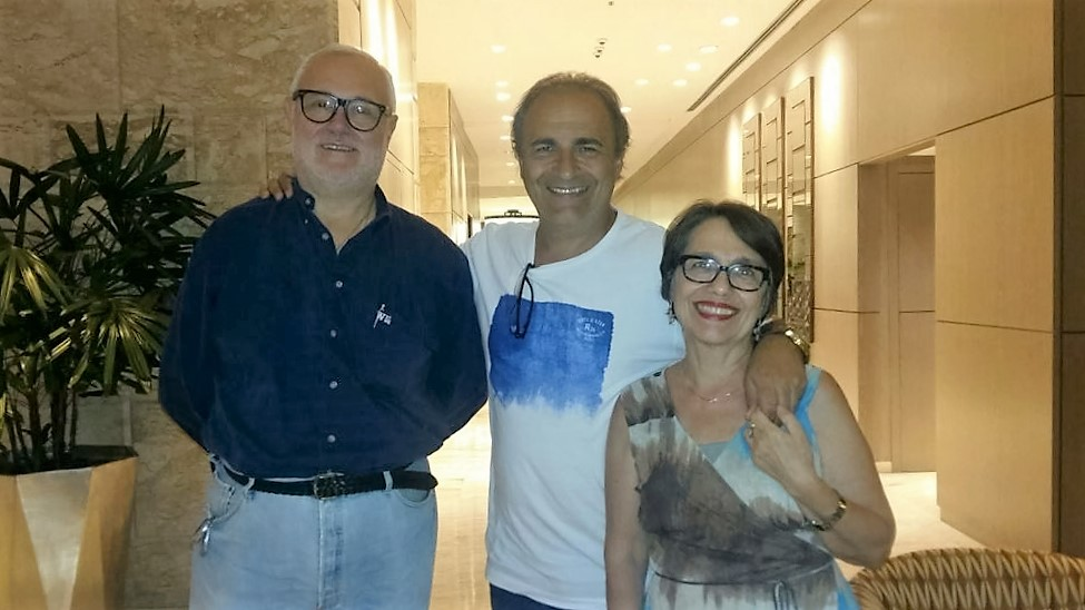 Nella foto, il presidente del MAIE con Raffaele Di Luca e Lilliana Frenda coordinatori MAIE Rio de Janeiro
