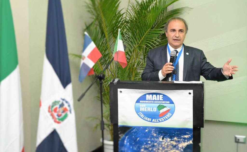 Ricardo Merlo interviene al primo Congresso MAIE Nord e Centro America - Santo Domingo, ottobre 2016