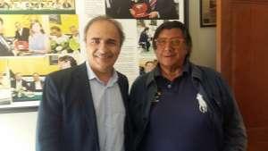 DA MONTEVIDEO Ricardo Merlo, a sinistra, con Mimmo Porpiglia, direttore del quotidiano Gente d'Italia