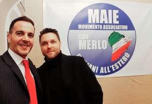 Ricky Filosa, a sinistra nella foto, e Flavio Bellinato negli uffici del MAIE presso la Camera dei Deputati a Roma