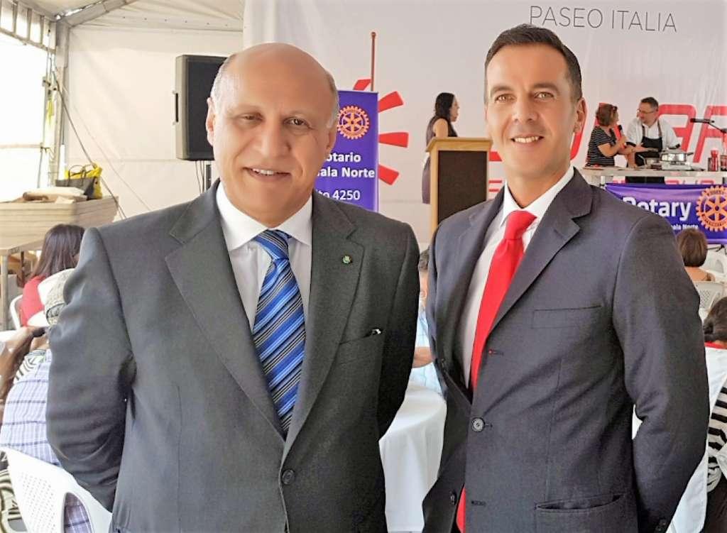 Ricky Filosa e Angelo Viro visitano gli stand di Paseo Italia
