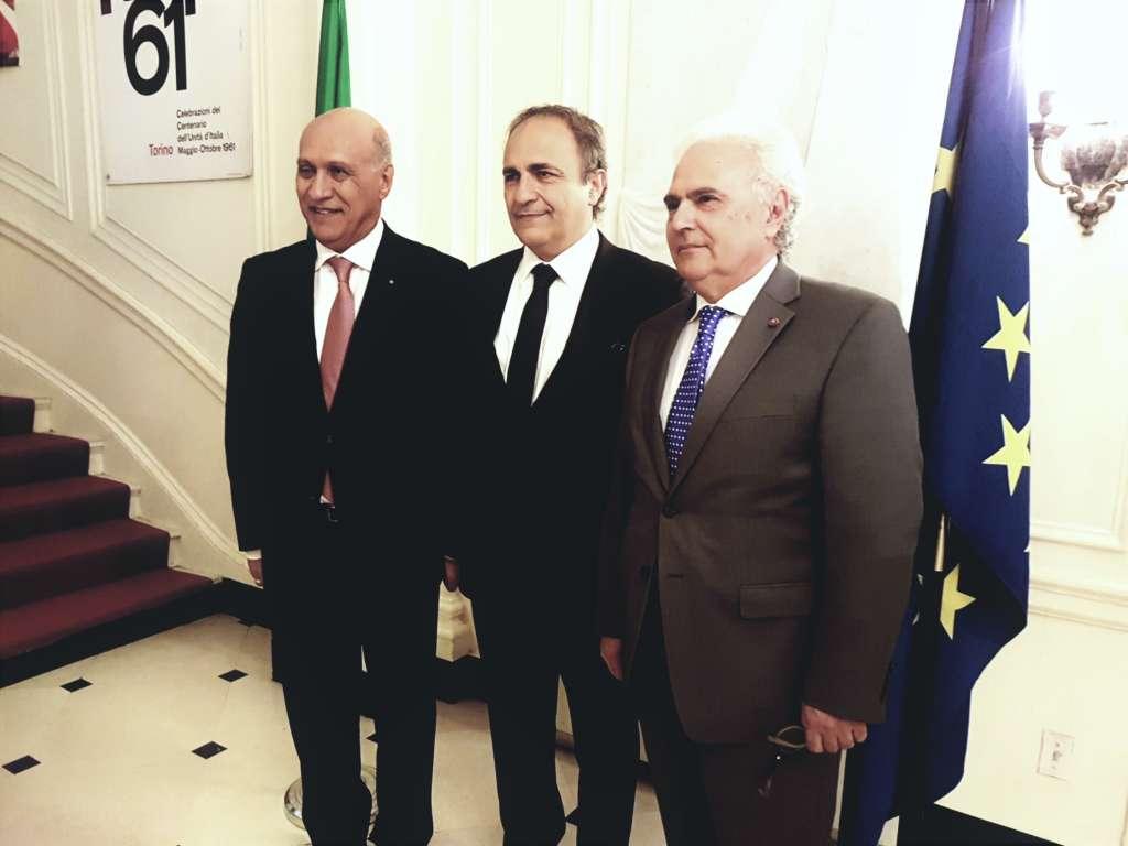 Delegazione MAIE al Consolato Generale di New York. Da sinistra, nella foto, Angelo Viro, Ricardo Merlo, Augusto Sorriso