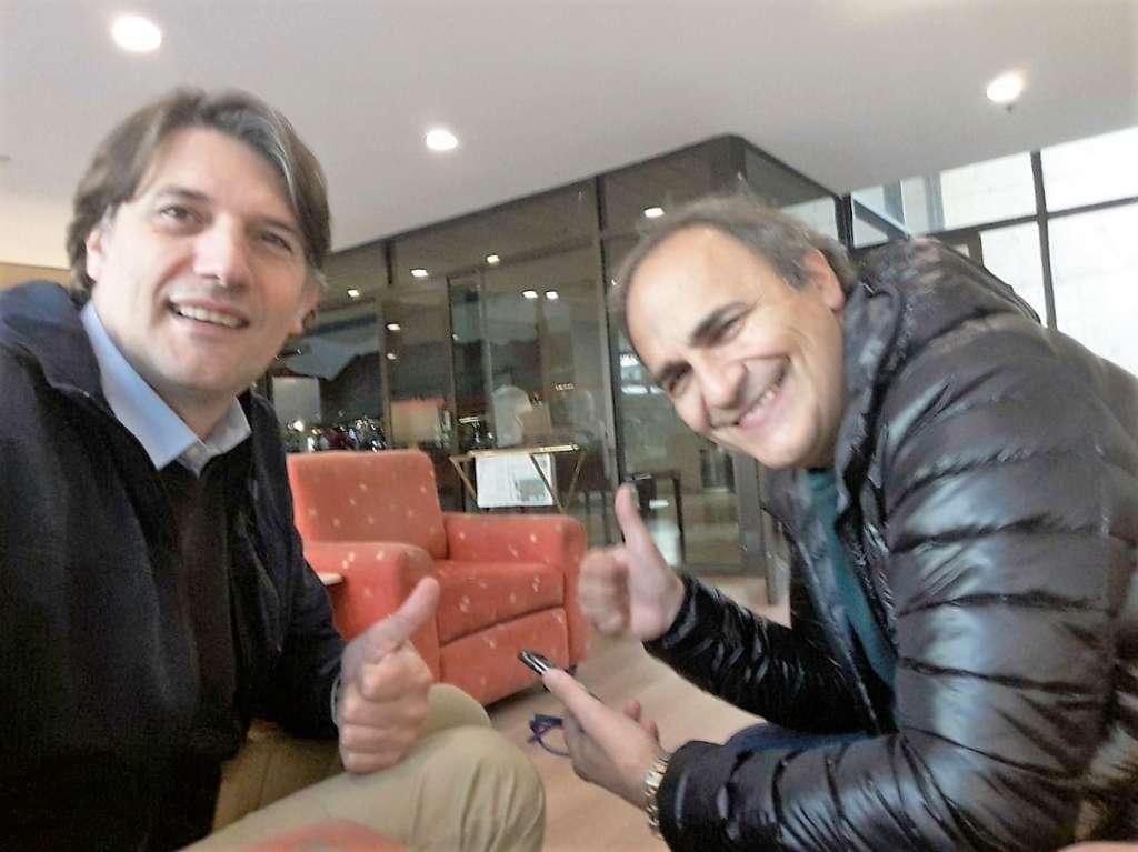 Luis Molossi, a sinistra nella foto, e Ricardo Merlo