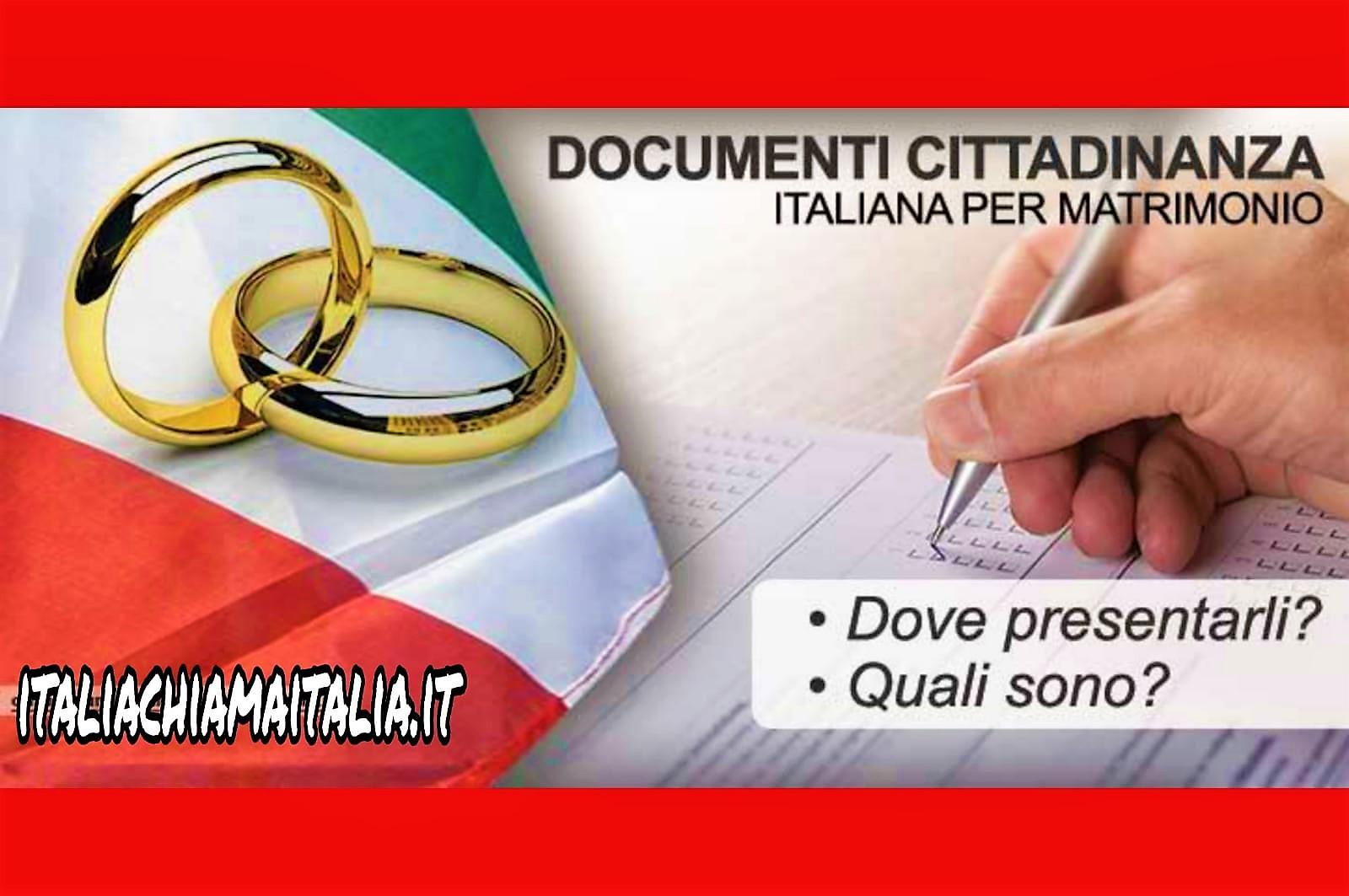 ANNO NUOVO, NUOVE REGOLE  Cittadinanza italiana per matrimonio